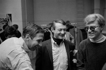 Robert Rauschenberg, Roy Lichtenstein & Andy Warhol NYC 1965, photo by Bob Adelman