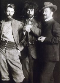 Vasily Kandinsky (right), Dmitry Kardovsky (center) & A. Seddeler (left) , Munich, 1897