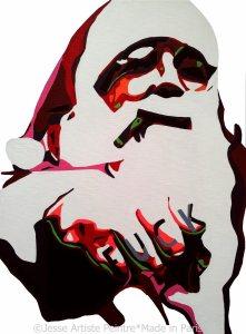 artiste peintre paris , jesse, artiste, santa claus, merry christmas, paris