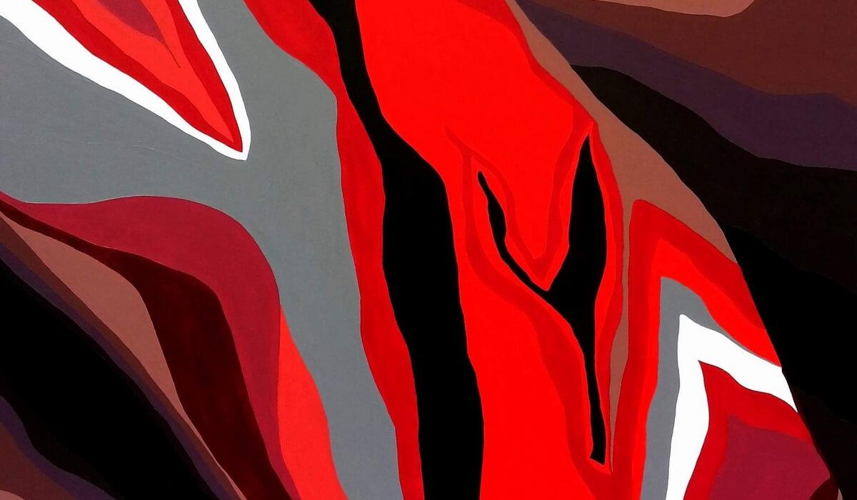 arty jesse, artiste peintre paris, vagina abstract painting, art blog