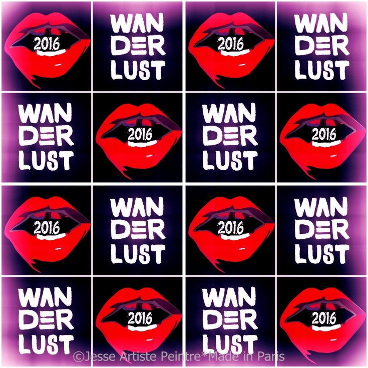 happy new year, 2016, sexy, red lips, paris, artist