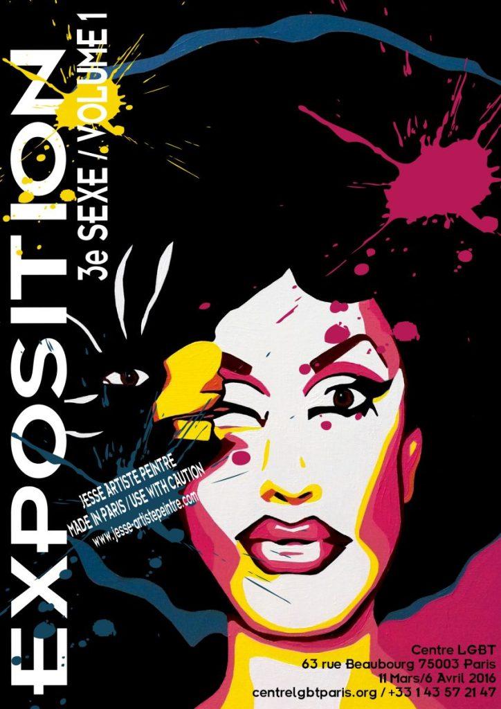 3e sexe, paris, drag queen, exhibition, homo sex piens, lgbt, lgbt paris, jackie beat