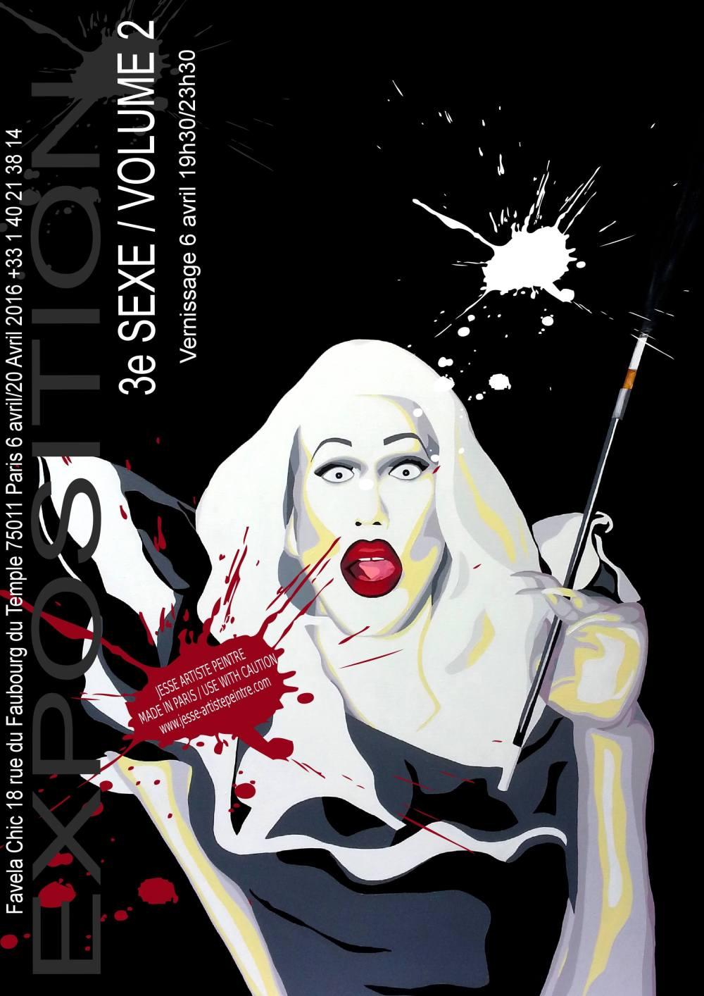 rpdr, rupaul, drag queen, 3e sexe, sharon needles, favela chic, exposition, exhibition, paris