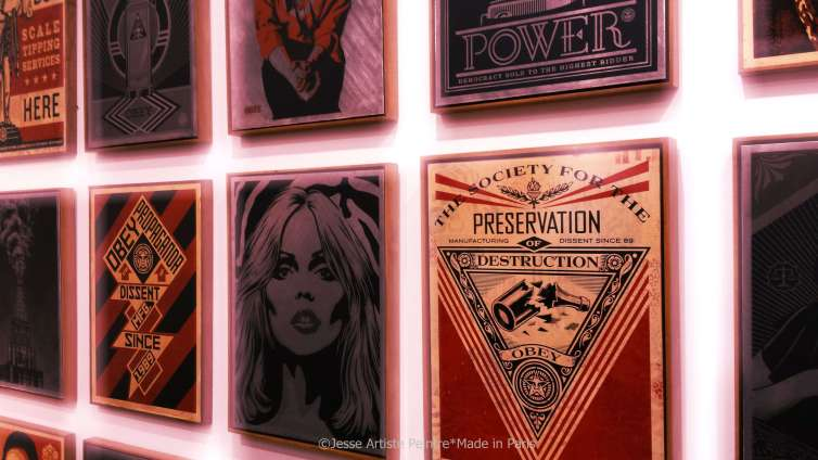 galerie laurent strouk, master, urban and street art, exhibition, paris, jesse artiste peintre, shepard fairey