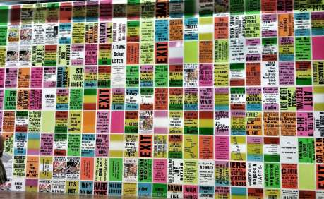beat generation, expo, beaubourg, paris, centre pompidou, the singing poster, allen ruppersberg