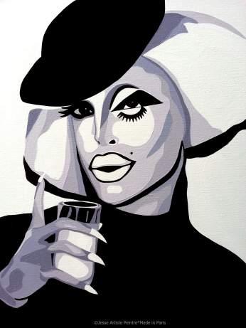 laila mcqueen, drag queen, rpdr, drag art, artiste peintre, blog