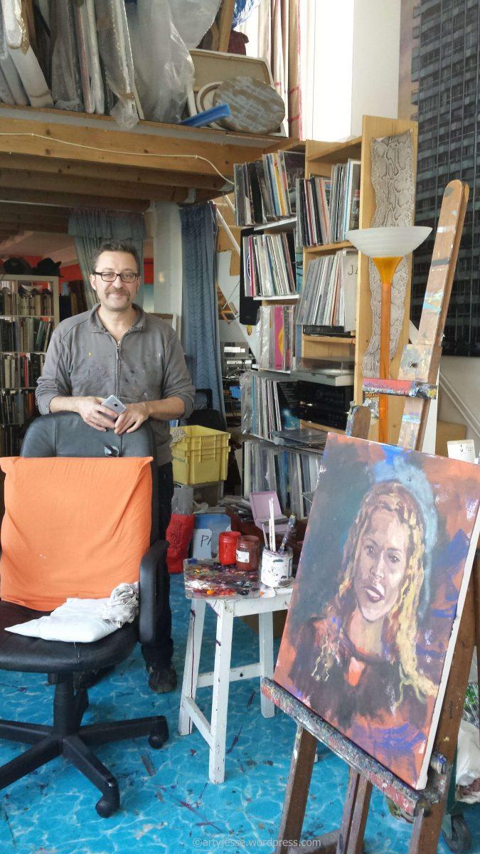 marc goldstain, jesse artiste peintre, modèle vivant, paris