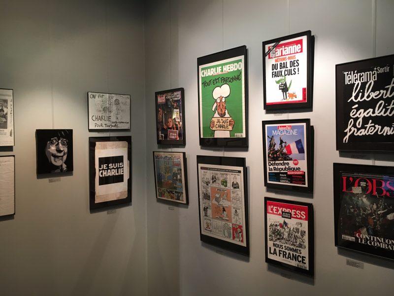 cabu, jesuischarlie, charlie archive exhibition, french cultural center, boston, harvard