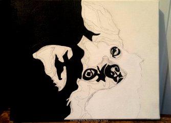 animal painting, peinture animalière, peintre animaux, pet painting, chihuahua, little dog, dog art