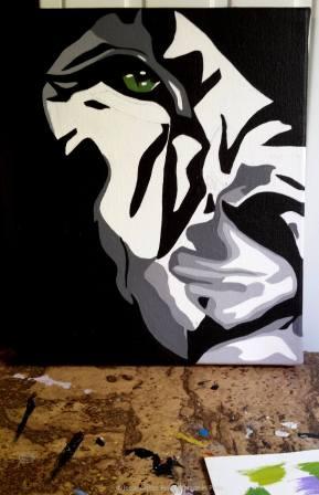 lion, lion painting, animal painter, animal artist, peintre animalier, animal art