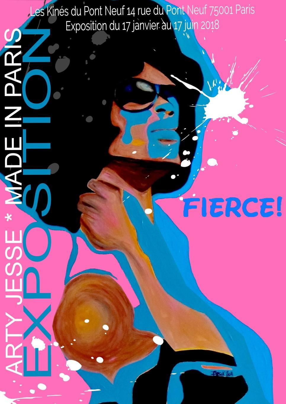 fierce, expo paris, kiné du pont neuf, exhibit, artist in Paris, jesse, gay, drag queen, rpdr