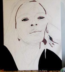 artist, wip, teen spirit, paris, portrait, painting, peinture, ado, pop