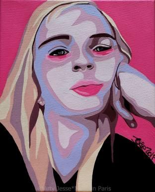 Niki Acrylique sur toile 22x27 cm