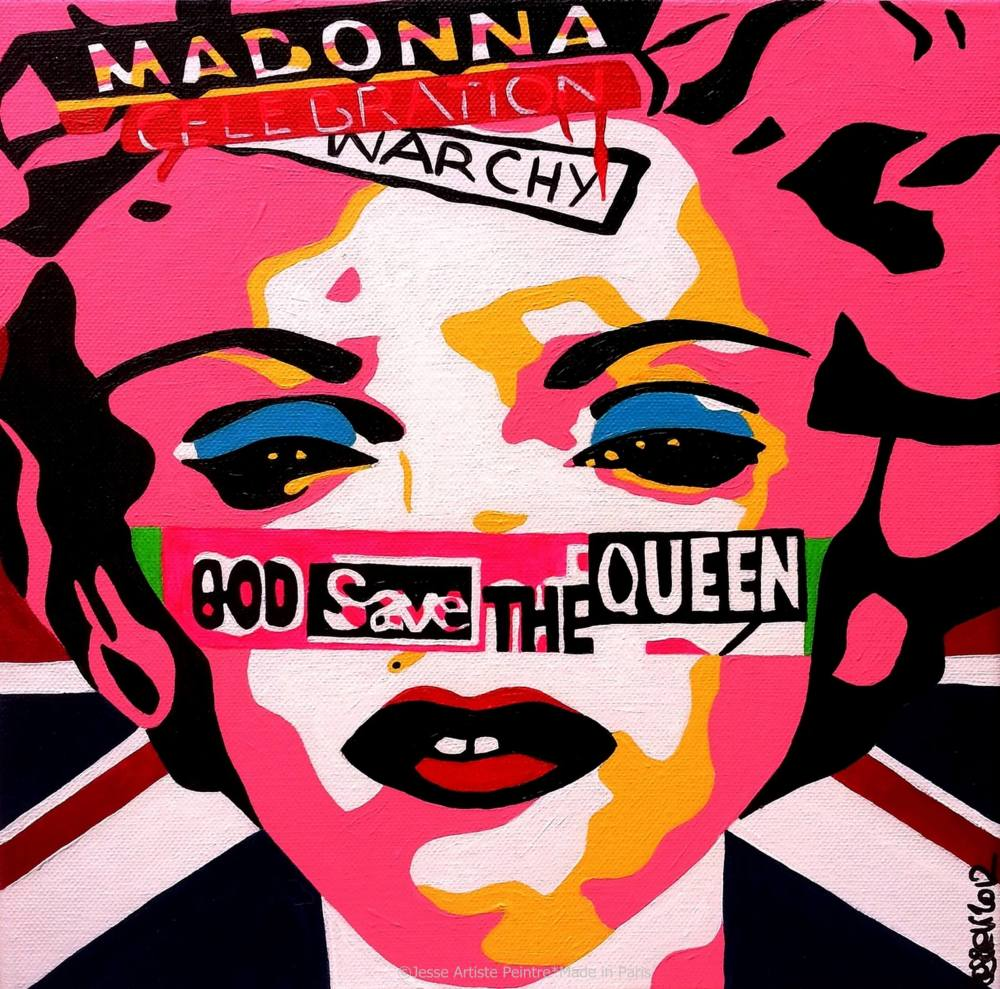 madonna, blog, happy birthday, art blog, madonna painting, god save the queen