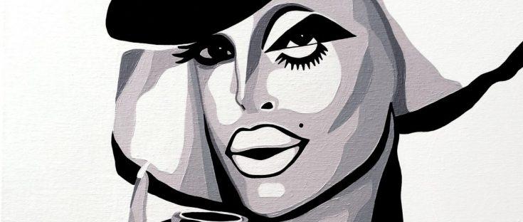 xmas, laila mcqueen, drag queen, drag art, rpdr