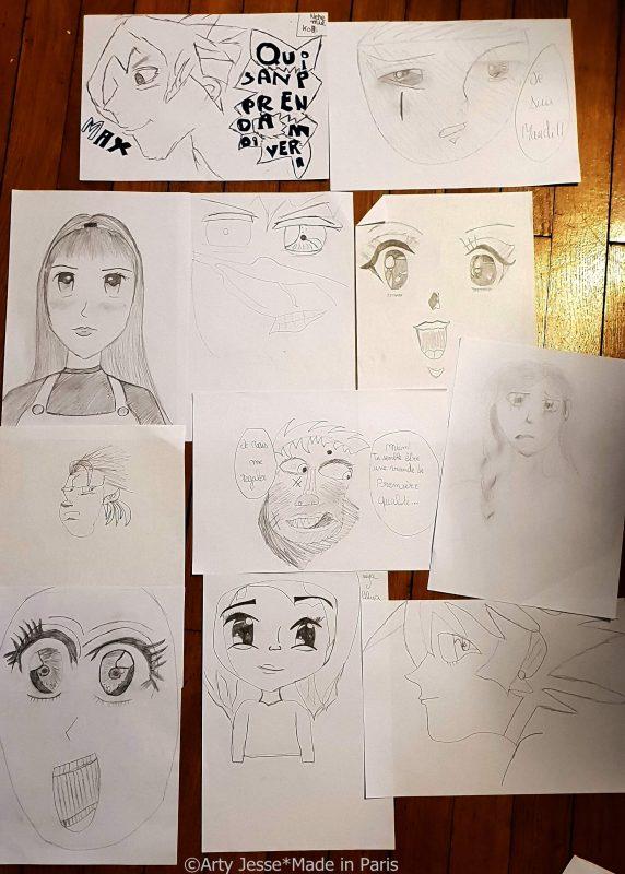 manga, Maison de la Jeunesse, Choisy le Roi, atelier manga, manga workshop