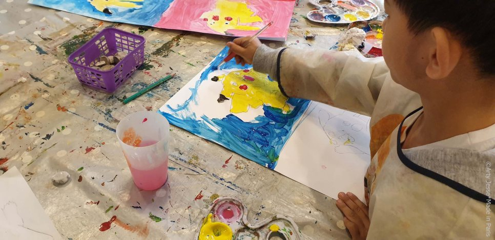 pop art with kids, atelier pop art enfants, pole simon lefranc, artiste intervenant