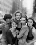 The SUPERMODELS From left to right: Naomi Campbell, Linda Evangelista, Tatjana Patitz, Christy Turlington and Cindy Crawford, NEW YORK, USA, 1989
