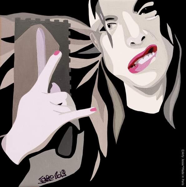 commission work, painting, woman's portrait, parisian style, parisian artist