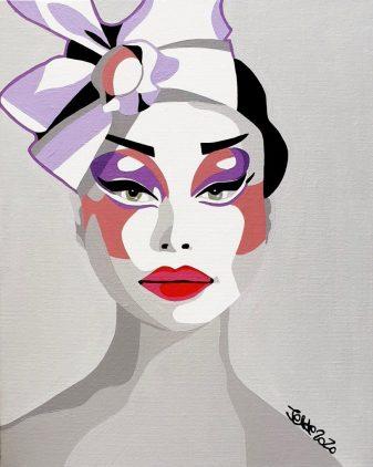 acrobate, circus art, girly painting