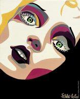 portrait, painting, blonde