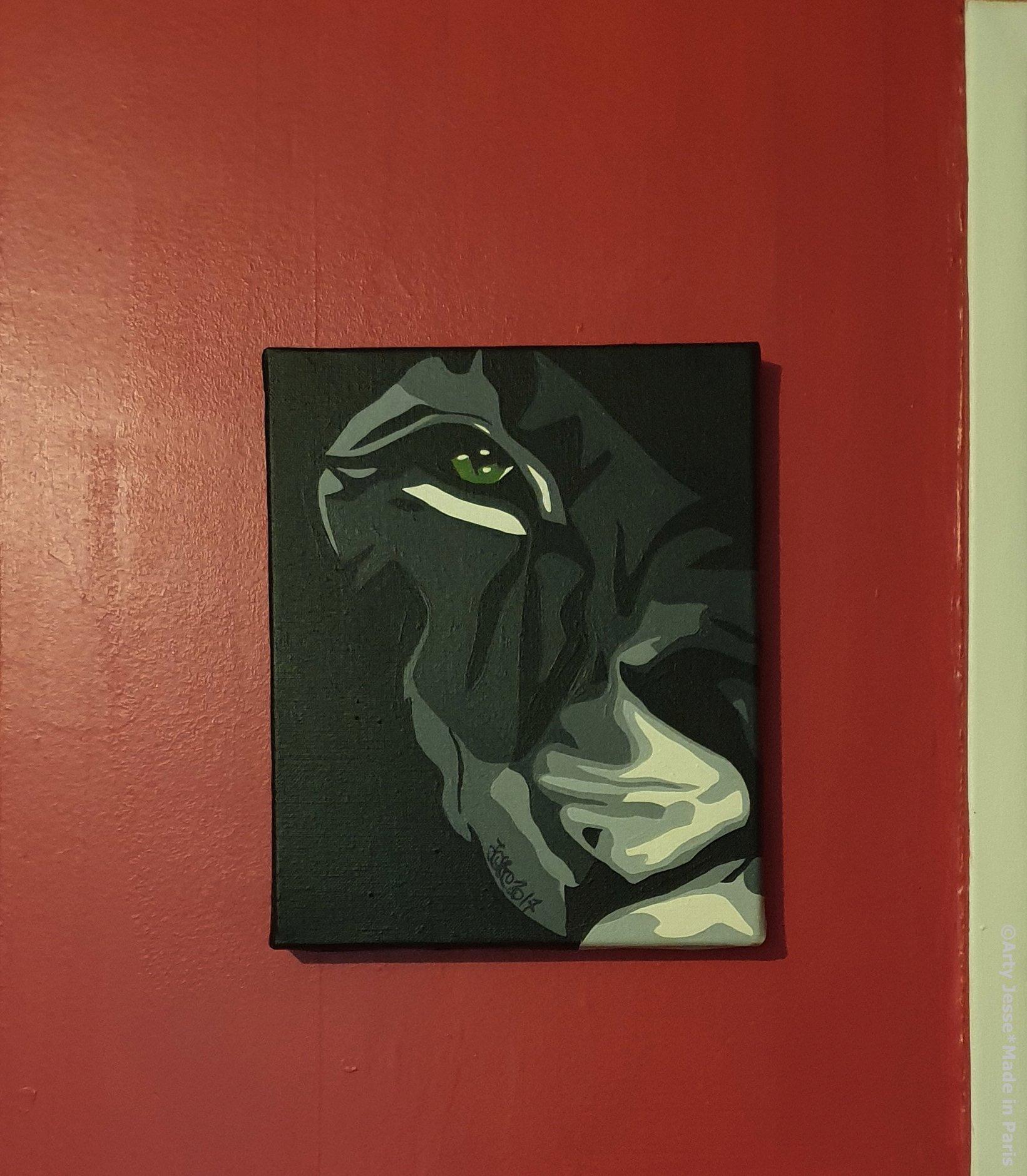 art blog, home decor, lion painting, animal art