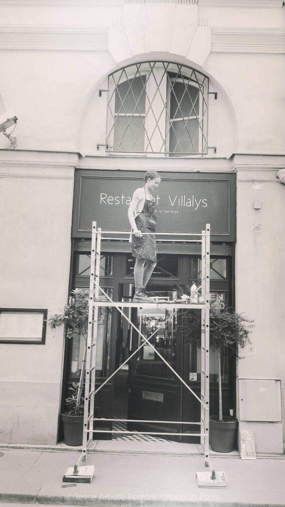 artiste peintre paris, création pochoirs, villalys, palais royal