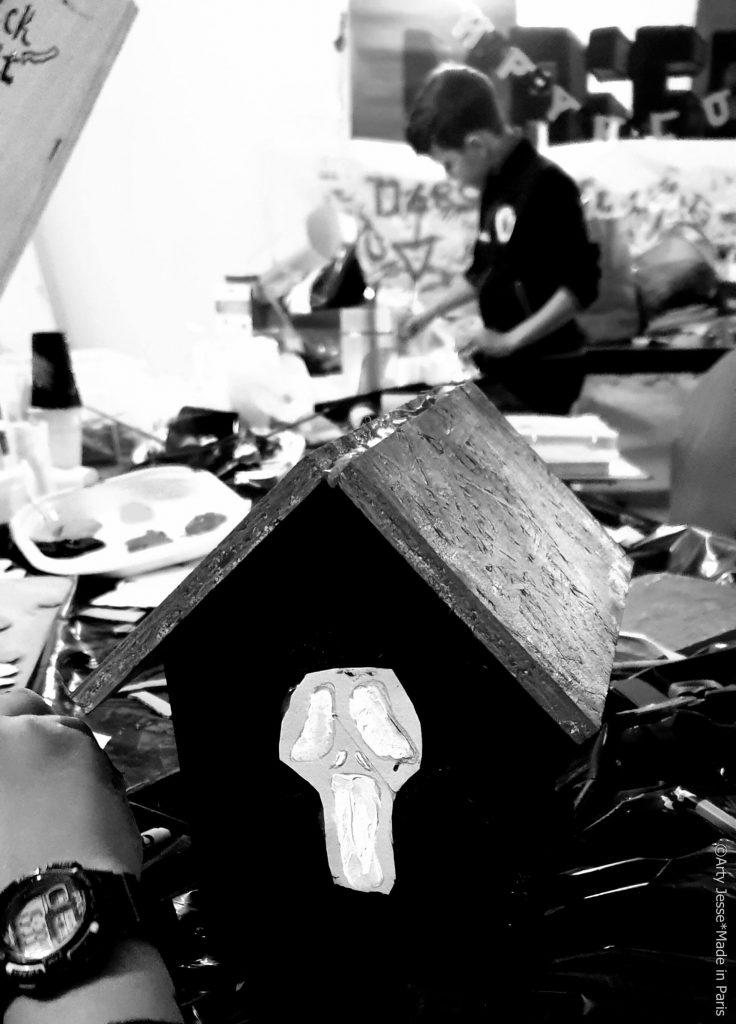 artiste peintre paris, intervenante artistique, atelier recup art, atelier halloween, bezons