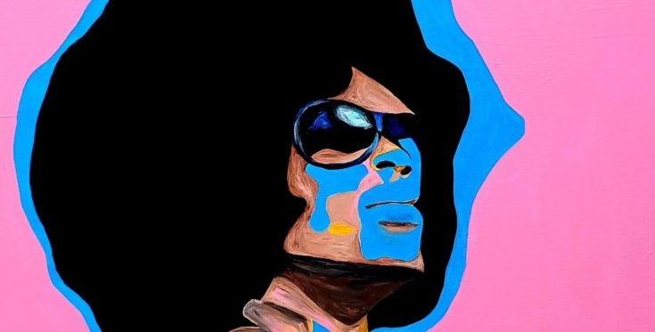 artiste peintre paris, afro hair, homo sex piens, gay art, drag queen portrait, le marais