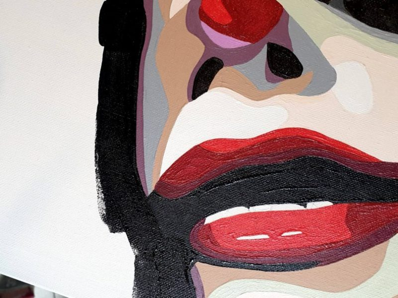 artiste peintre, clown art, wip