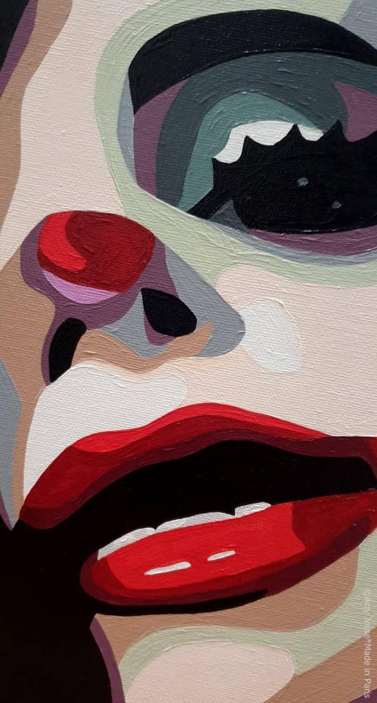 artiste peintre, circus art, clown painting