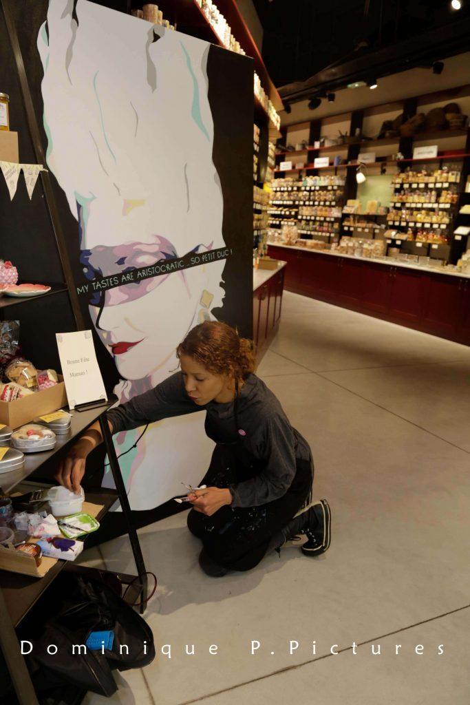 artiste peintre paris, le petit duc, marie antoinette painting, kirsten dunst painting