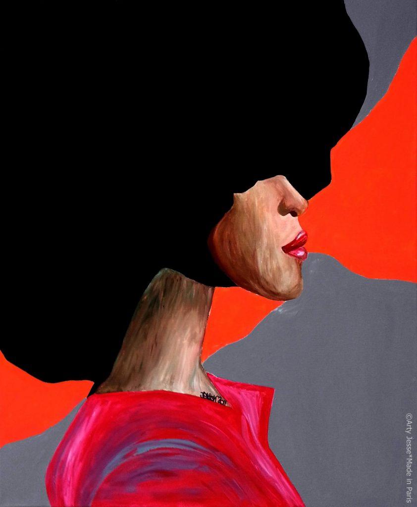 artiste peintre paris, pop art paris, afro hair painting, blm painting, black lives matter painting