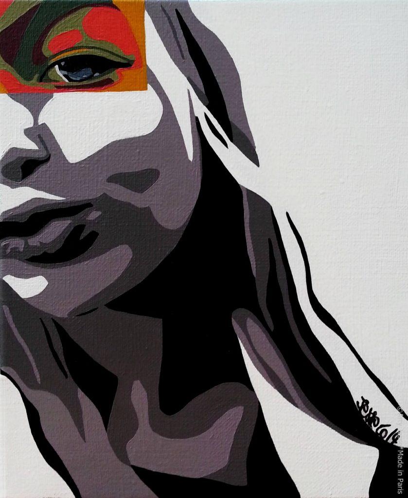 artiste peintre paris, pop art paris, teen art, teen girl painting