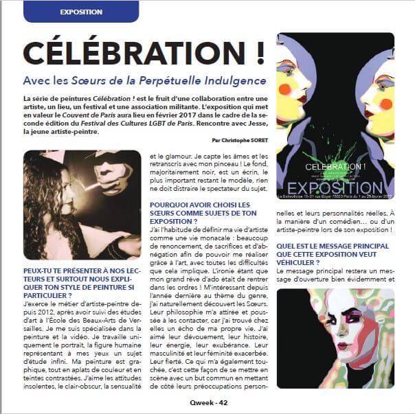 artiste peintre paris, les soeurs de la perpétuelle indulgence, expo paris LGBT, qweek magazine