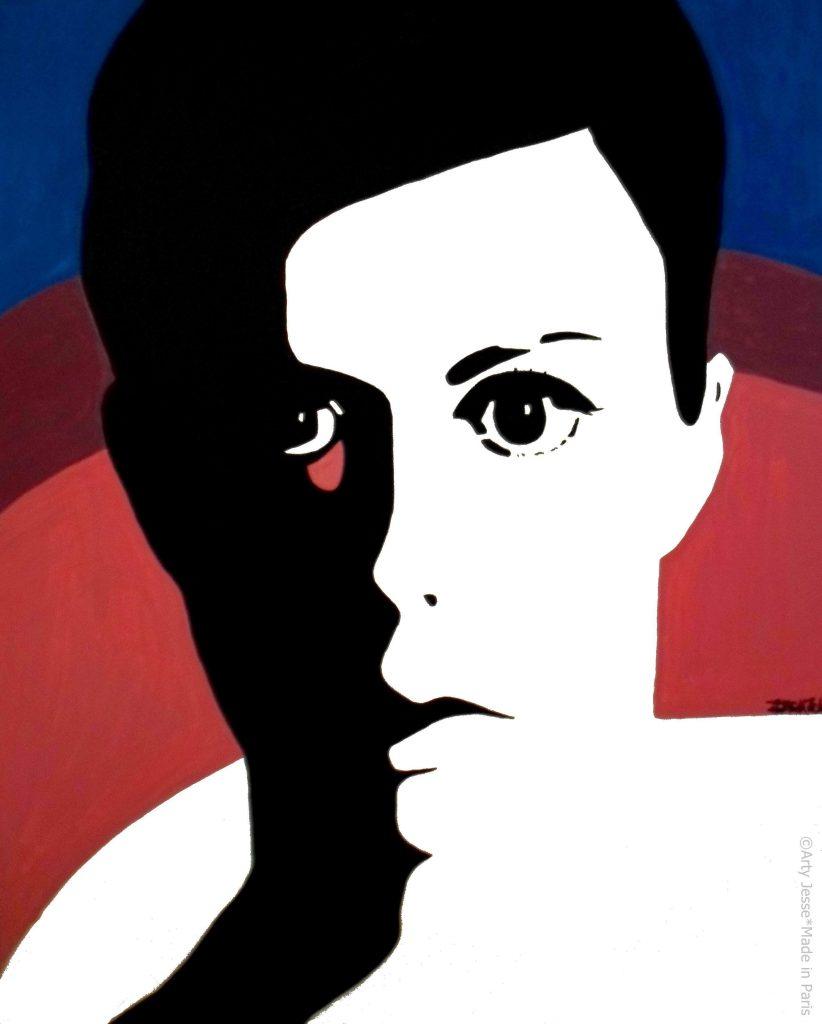 artiste peintre paris, pop art paris, androgynous painting