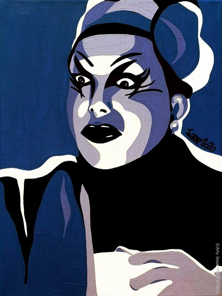 artiste peintre paris, pop art paris, circus art, jenny belair, le palace
