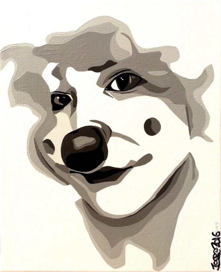artiste peintre paris, pop art paris, clown painting, woman clown