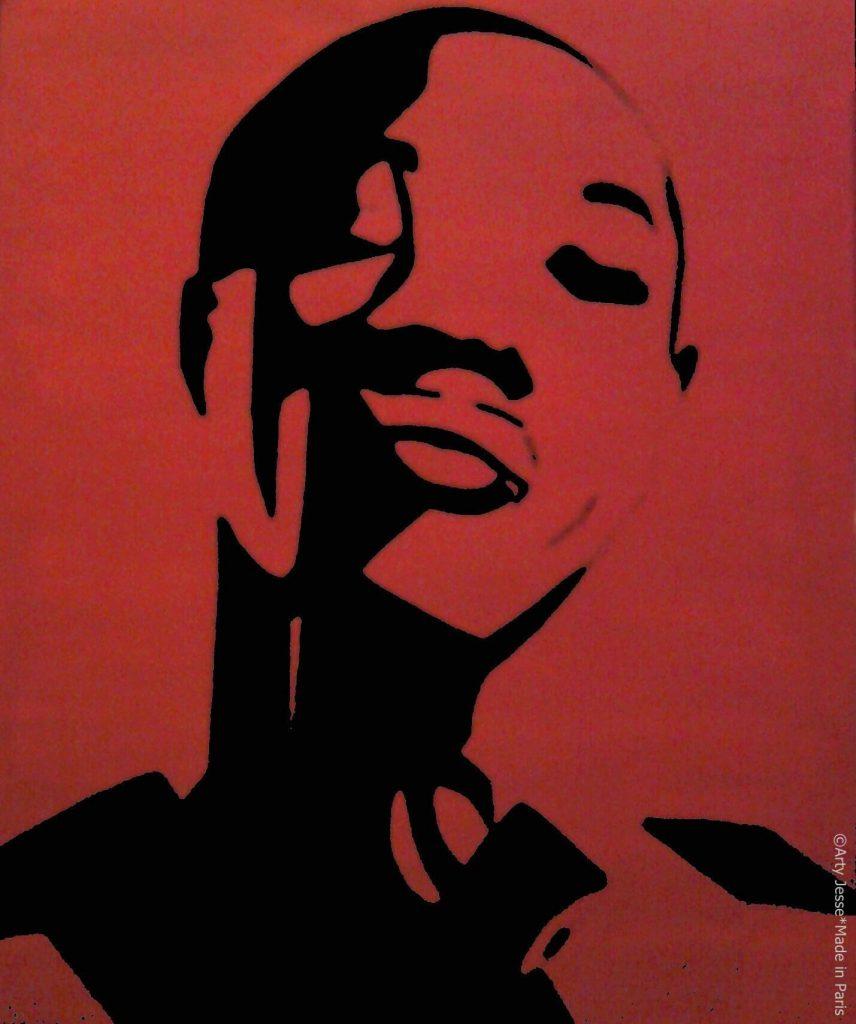 artiste peintre paris, pop art paris, joey starr peinture, joey starr portrait