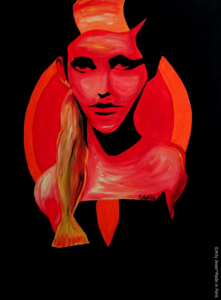 artiste peintre paris, pop art paris, sadness painting, solitude peinture