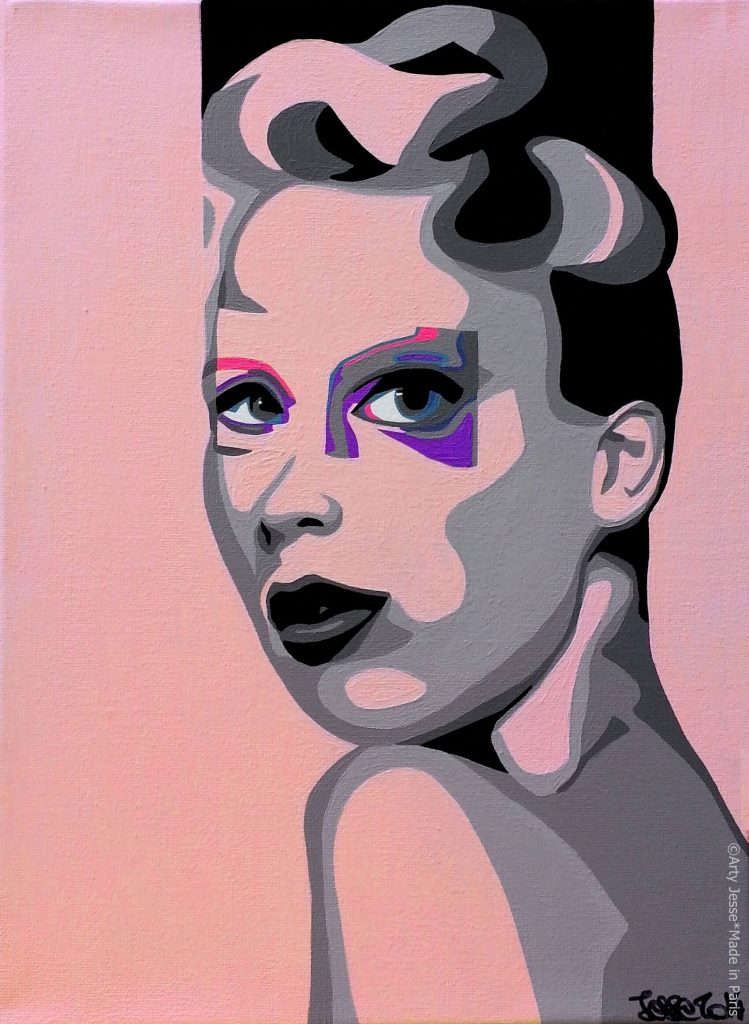 artiste peintre paris, pop art, girly art, marie-antoinette painting