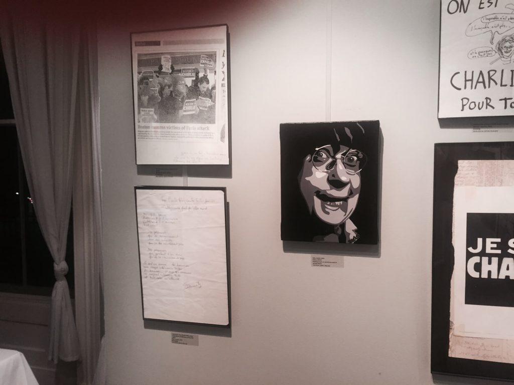 artiste peintre paris, je suis charlie art, cabu painting, french cultural center boston