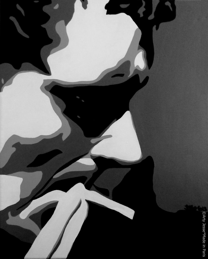 artiste peintre paris, smoker painting, smoker art, man who smokes painting