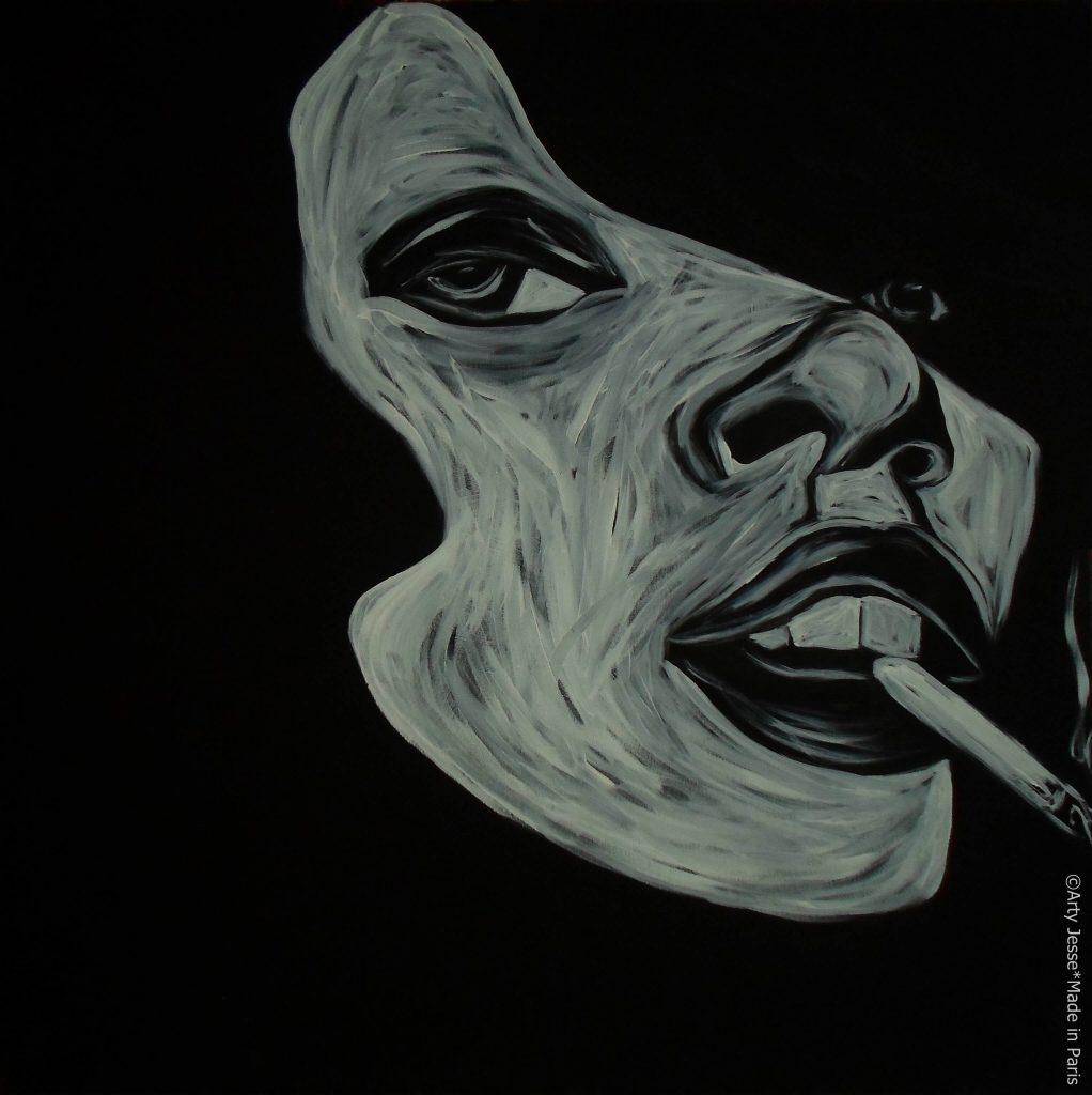 artiste peintre paris, pop art paris, smoker painting