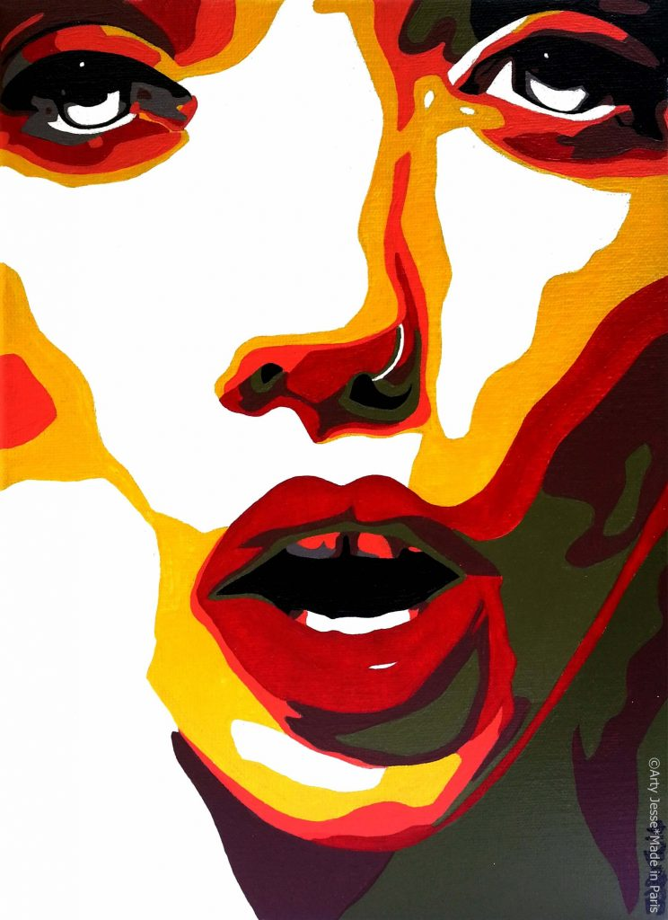 artiste peintre paris, pop art, girly art, top model painting