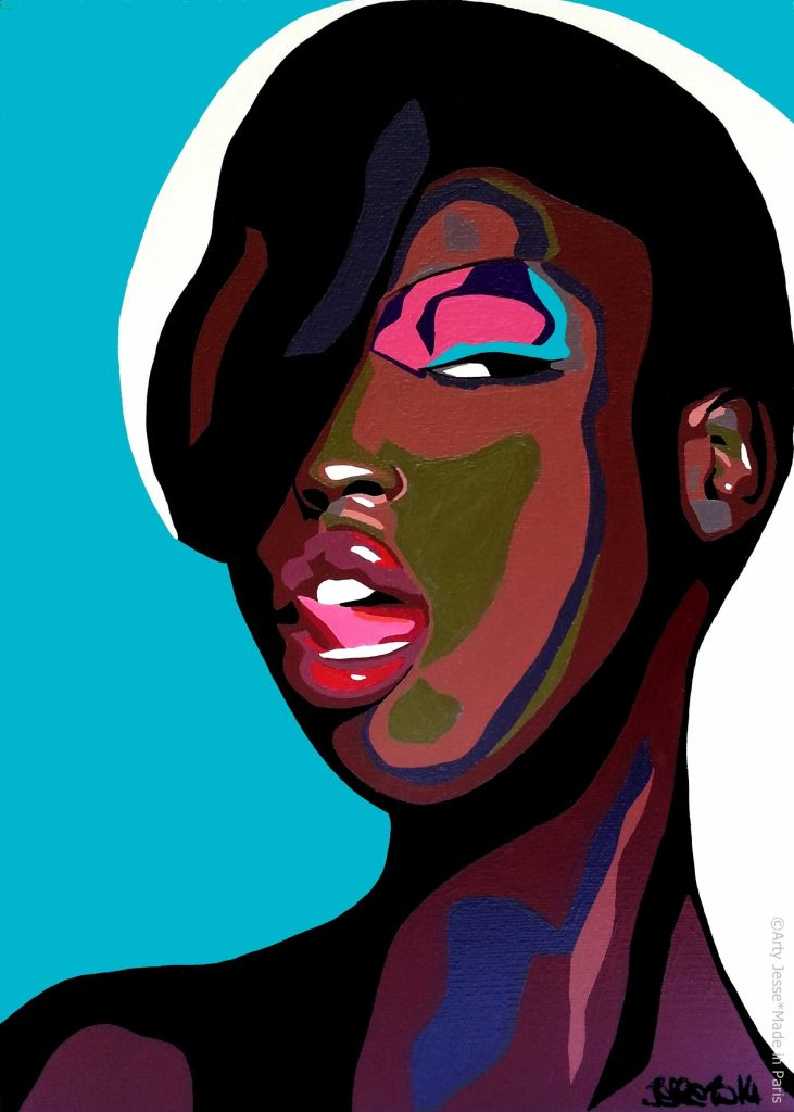 artiste peintre paris, pop art, girly art, black woman art