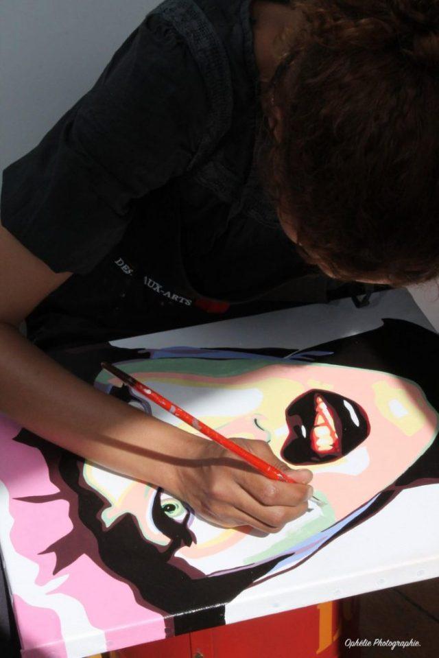 artiste peintre paris, pop art paris, live painting, drag queen painting, yrb lille