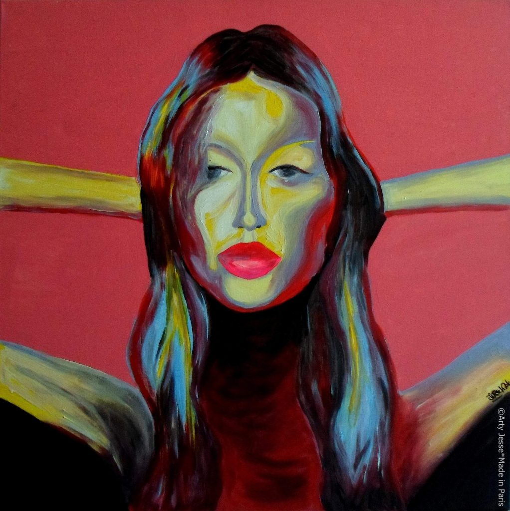artiste peintre paris, pop art paris, gisele bundchen painting