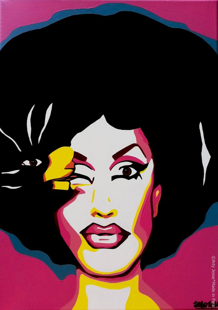 artiste peintre paris, drag queen, drag art, jackie beat