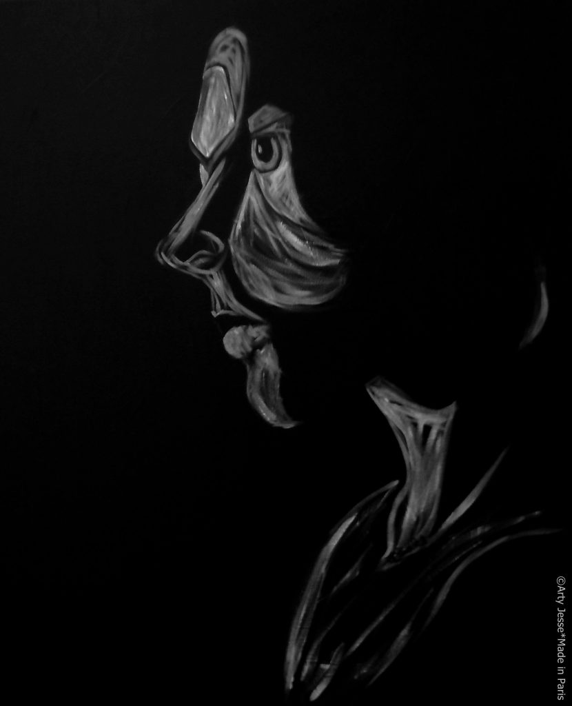 artiste peintre paris, pop art paris, jealous portrait